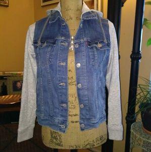 Levis Denim Sweater Jacket